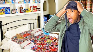 TURNING MY FRIENDS ROOM INTO A CANDY STORE