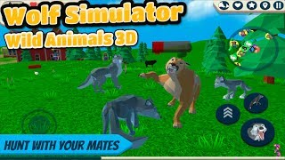 🐺Wolf Simulator: Wild Animals 3D- By CyberGoldfinch-📱Android