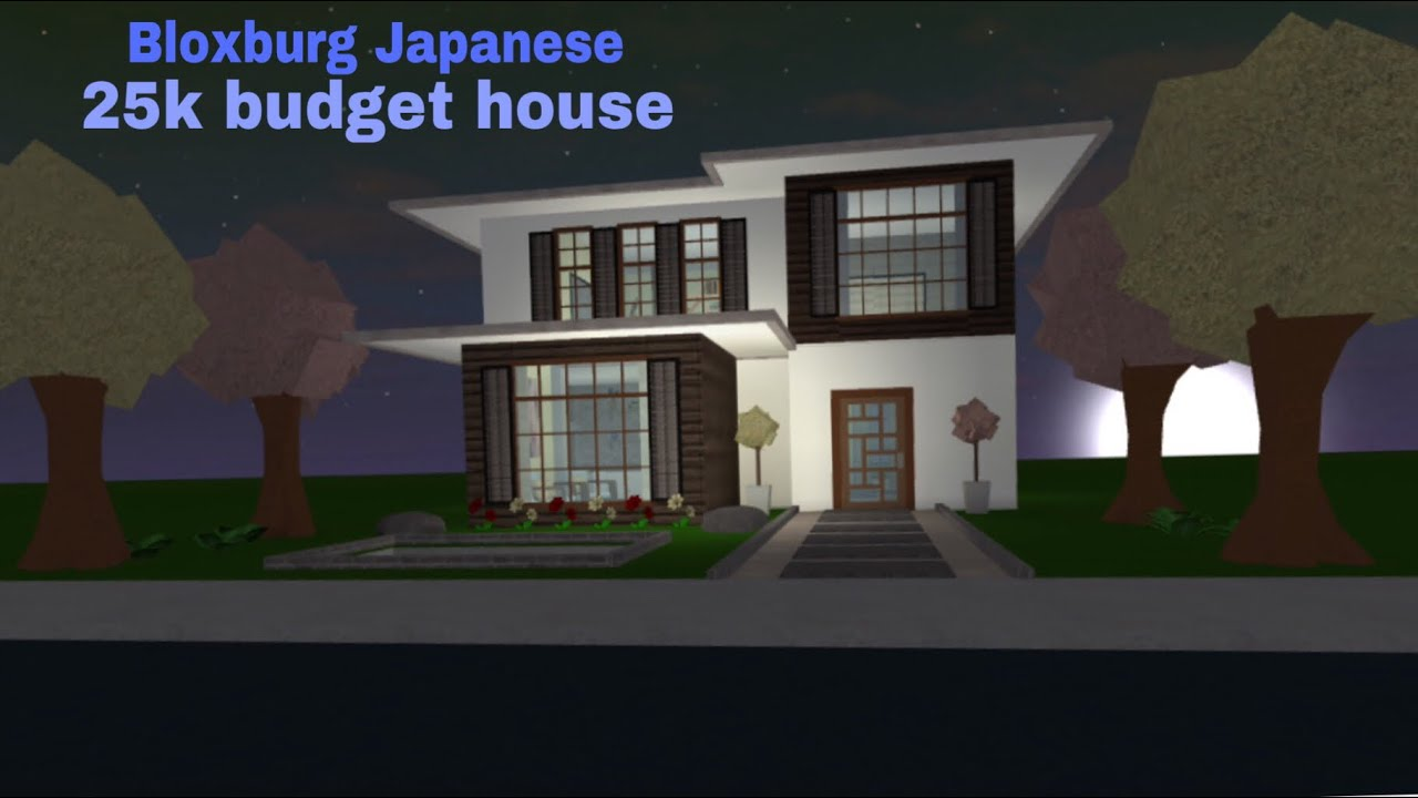Bloxburg Japanese 25k Budget House Youtube