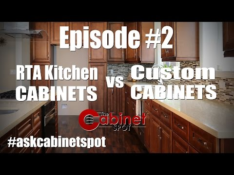 RTA Kitchen Cabinets vs Custom Cabinet - Episode 2