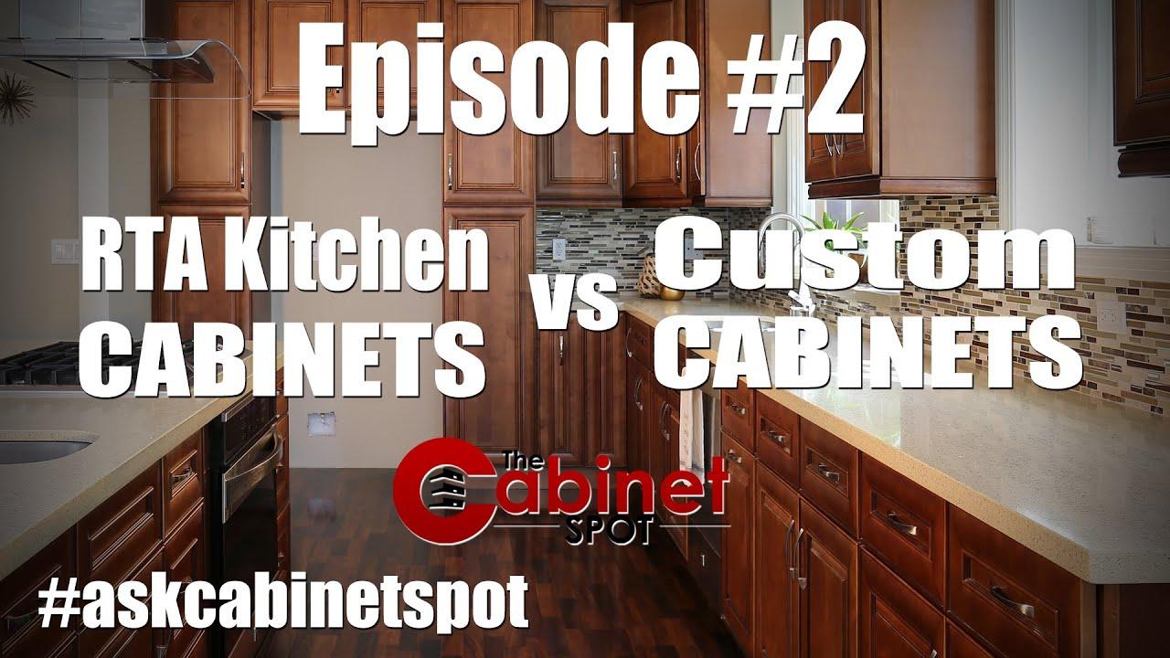 RTA Kitchen Cabinets vs Custom Cabinet - Episode 2 - YouTube