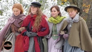 "Emma Watson Filming ""Little Women"" with Florence Pugh, Saoirse Ronan and Eliza Scanlen"