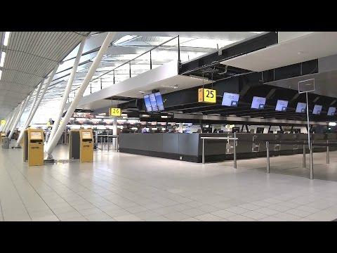 Schiphol Amsterdam Airport public area tour.
