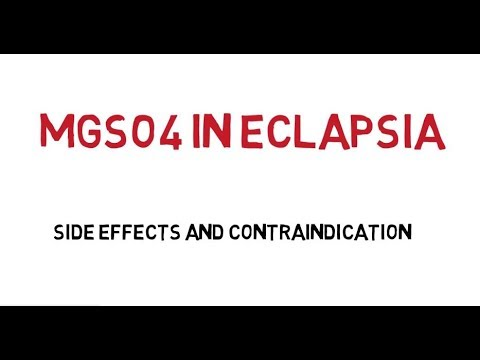 Mgso4 In Eclampsia ( Side Effects & Contraindication) Magnesium Sulphate