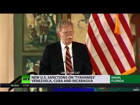 'Troika of tyranny': US introduces tougher policies on Venezuela, Cuba & Nicaragua