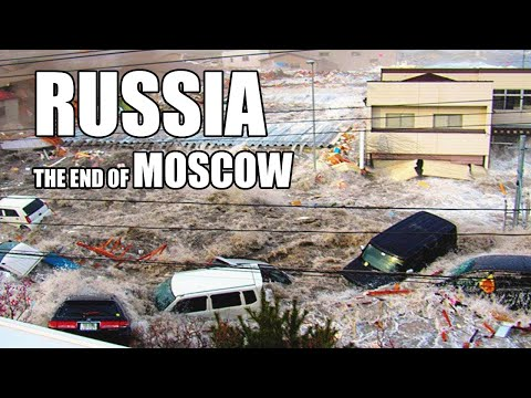 Apocalypse in Moscow! A powerful hurricane and flood are crushing Russia!