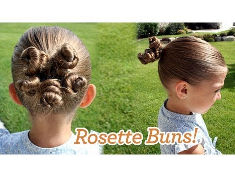 Rosette Buns Updos Cute Girls Hairstyles Youtube