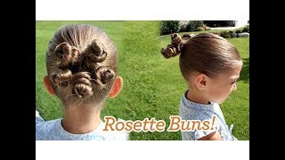 Rosette Buns   Updos   Cute Girls Hairstyles
