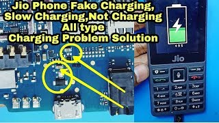 Jio Phone Charging Problem Solution | Jio LYF F220B Slow Charging Fake Charging Not charging Problem