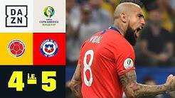 Arturo Vidal und La Roja wahren Triple-Traum: Kolumbien - Chile 4:5 i.E. | Copa America | DAZN