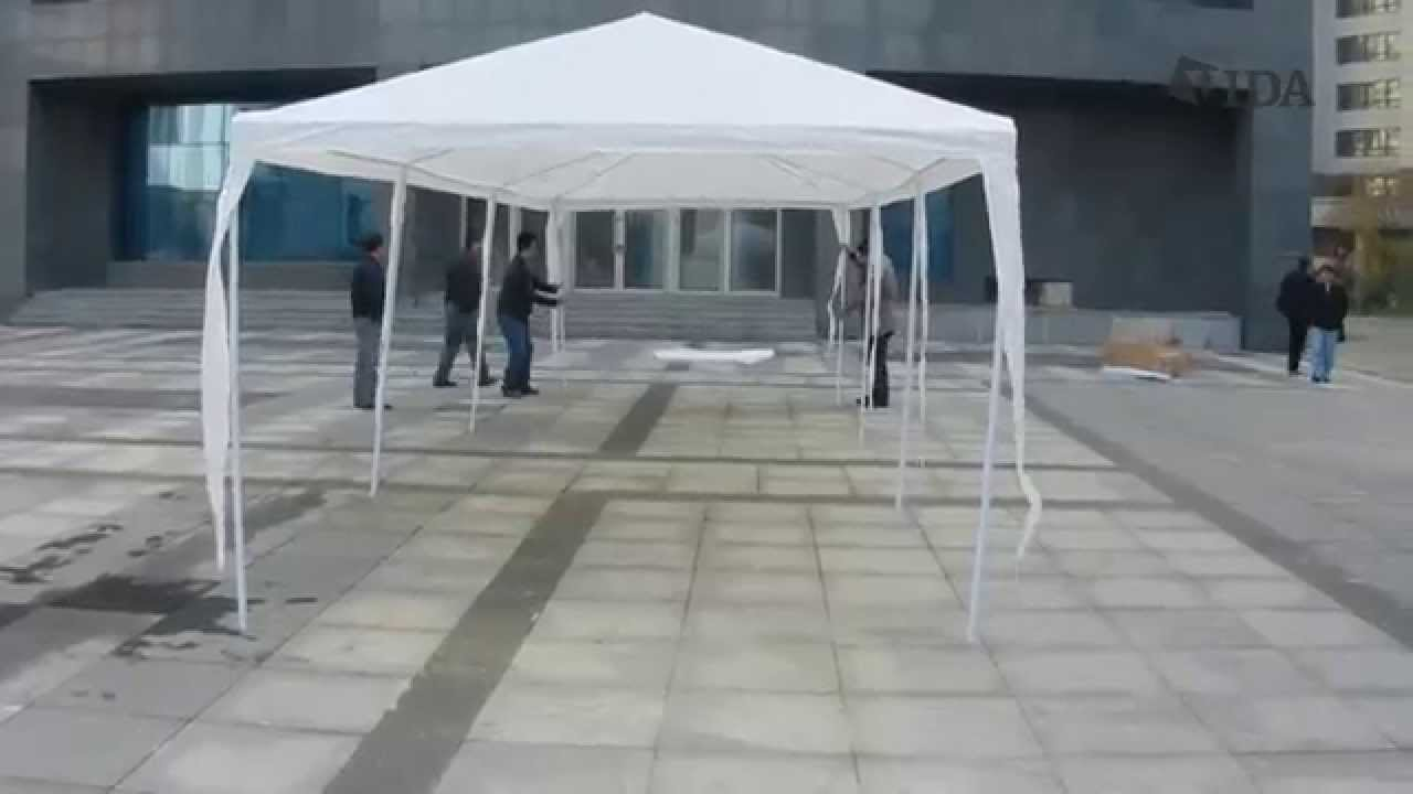 Party Tent Installation by Vidagoods