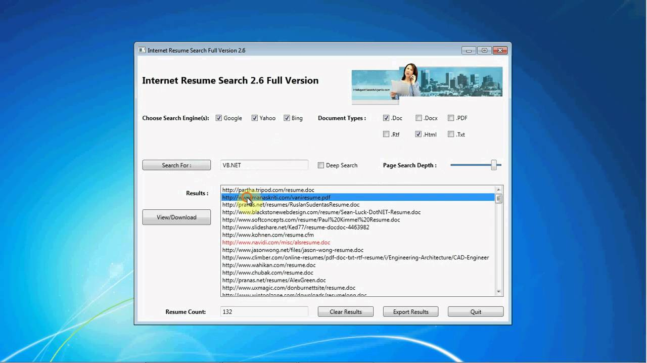 how to find resumes online with internet resume search software keyword vbnet - Find Resumes Online