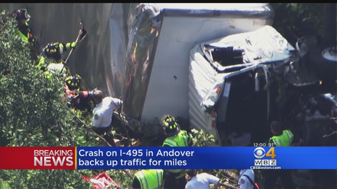 Crash On 495 In Andover Backs Up Traffic For Miles