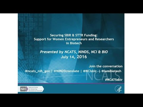 Support for Women Entrepreneurs and Researchers in Biotech Webinar