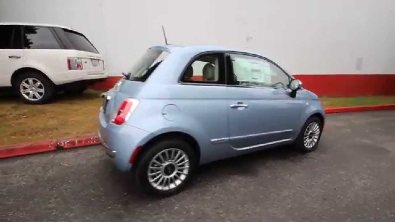 2015 fiat 500 lounge luce blu ft508122 redmond seattle youtube. Black Bedroom Furniture Sets. Home Design Ideas