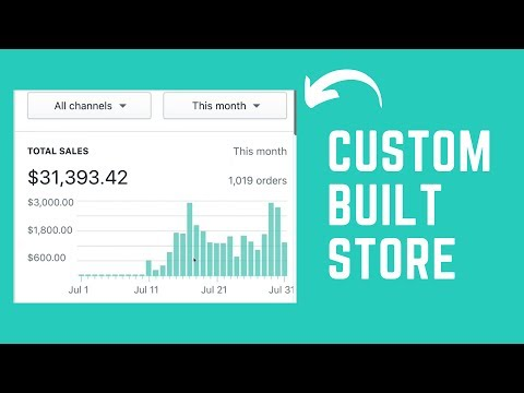 Custom Shopify Store With Winning Products   1-on-1 Training