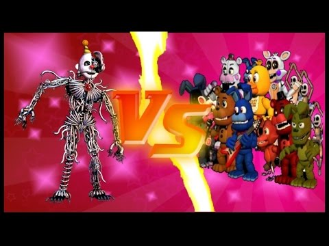 FNaF World the return to evil ENNARD VS FUNTIMES & ORIGINALS (Fan-game fnaf)