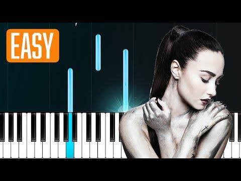 """Demi Lovato - """"Sober"""" 100% EASY PIANO TUTORIAL"""