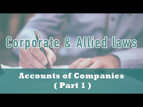 Accounts of Companies | Financial Statements | Section 2(40)| Section 128 | Electronic Form | Part 1