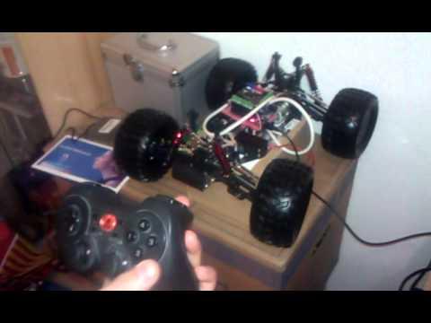 Rc car servo and dc motor via arduino youtube for Rc car servo motor