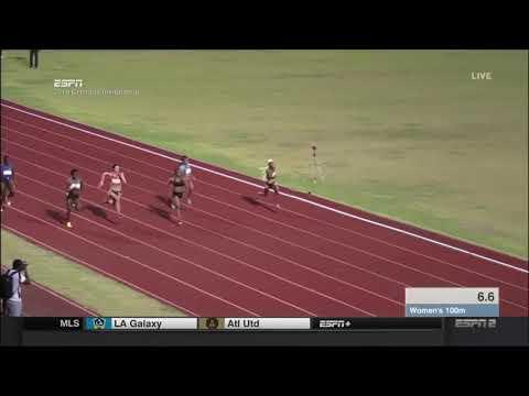 Hannah Cunliffe 100m - Grenada Invitational