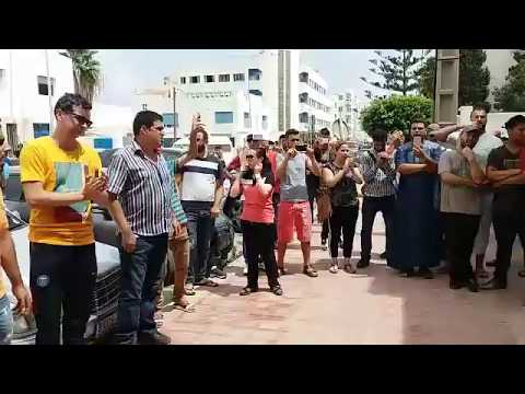 وقفة تضامنية امام ابتدائية الناظور لاطلاق سراح معتقلي احداث العروي Nador