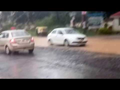 September Rain 2017! Road Condition On Sompura Near Trinity Gate - Video 2