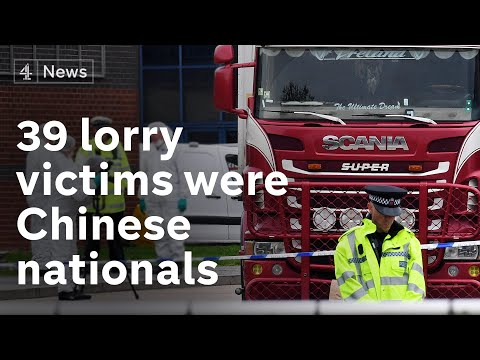 Essex lorry deaths: 39 bodies confirmed to be Chinese nation