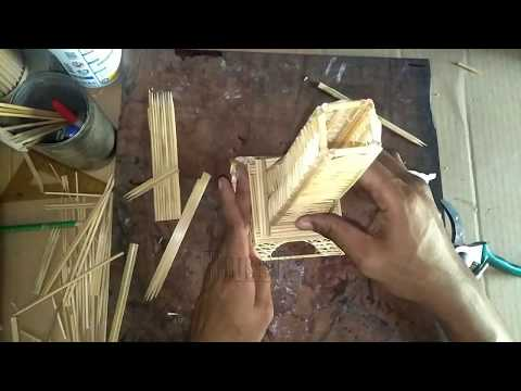 How to make an eiffel tower with wooden sticks - House kh