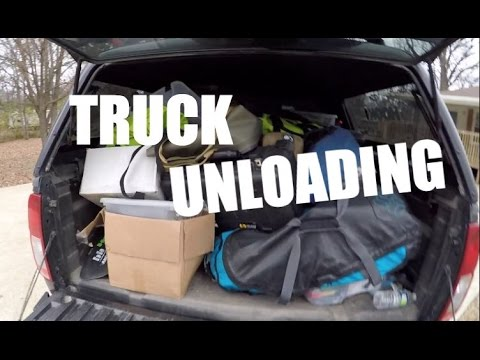 Unloading My Truck After A Fishing Trip - Fishing And Filming Gear
