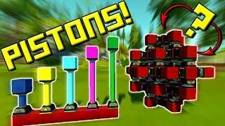 OMG PISTONS!!! LET'S EXPERIMENT! - Scrap Mechanic Gameplay Update!