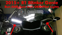 Blinker Genie for 2015+ YZF-R1. Plug-and-Play kit turns OEM Pilot Lights into Turn Signals