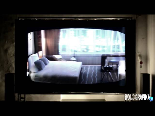 Hotel interior design on HoloVizio C80