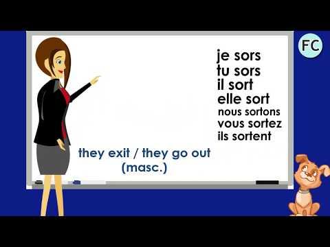 Le Verbe Sortir au Présent - To Go Out / To Exit Present Tense - French Conjugation