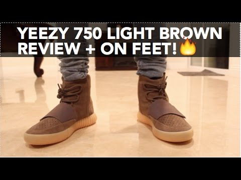 5dc1d85a00aff Drop Review  Yeezy 750 Light Brown + On Feet - YouTube