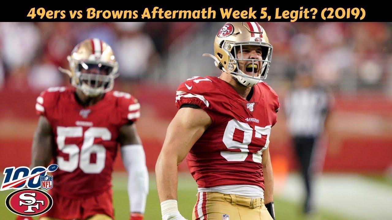 Download 49ers vs Browns Aftermath Week 5, Legit? 2019