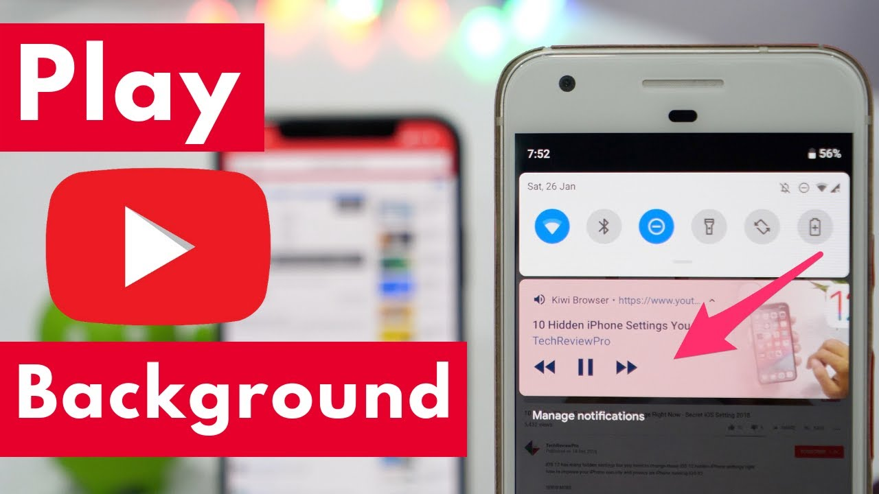 How To Play Youtube Videos In Background On Iphone And Android 2021 Youtube