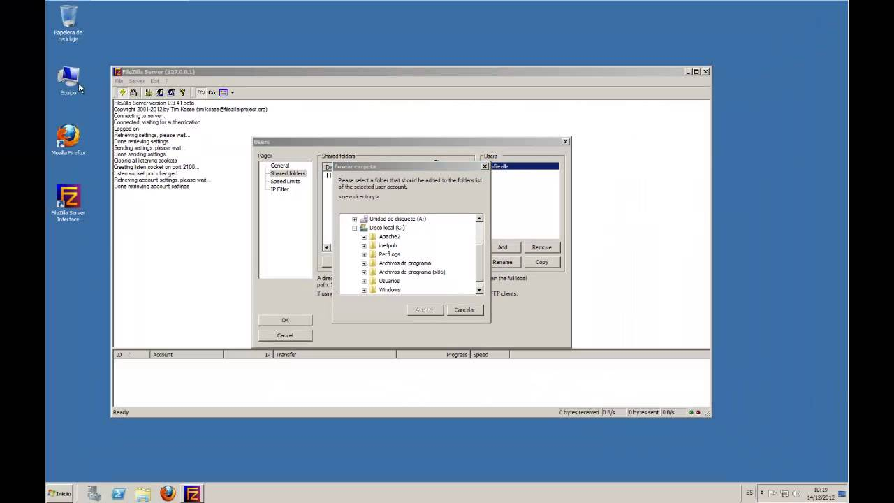 filezilla server for windows server 2008