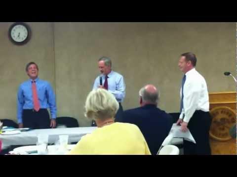 Senator Tom Carper Does Push Ups