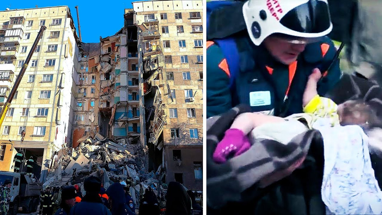 Rescue Heroes Save Baby from the Rubble of a 10-story Building
