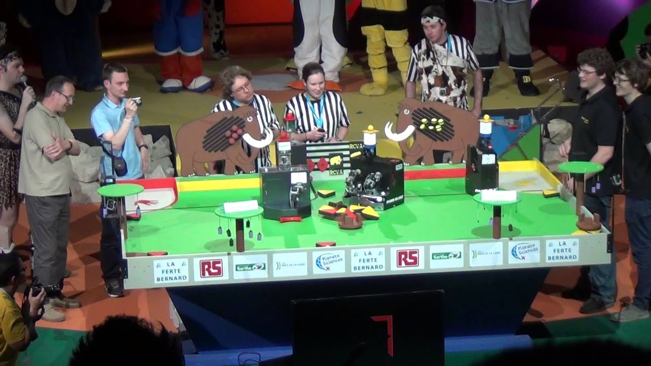 Rcva robotic system finale coupe de france de robotique 2014 manche 2 youtube - Coupe de france robotique ...