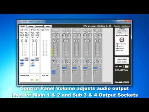 m audio projectmix i o driver settings control panel part 2 youtube. Black Bedroom Furniture Sets. Home Design Ideas