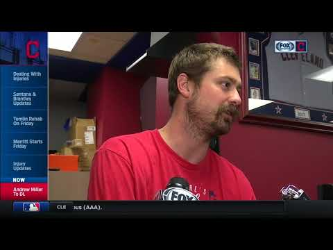 Andrew Miller and Terry Francona comment on the Cleveland Indians reliever's latest setback