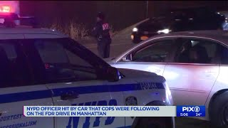 Woman arrested for hitting NYPD officer with car during Manhattan chase: police