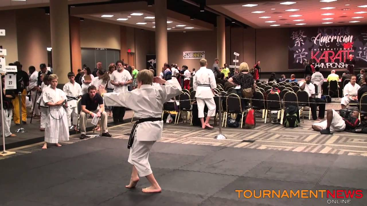 Wyatt Cooper Traditional Forms at North American International Karate  Championship 2013