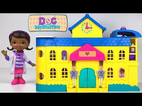 Thumbnail: UNBOXING DOC MCSTUFFINS TOY HOSPITAL WITH THREE LEVELS HELICOPTER RHONDA LAMBIE BABY CECE & ELEVATOR