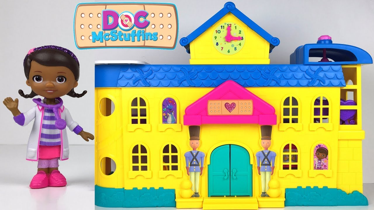 Unboxing Doc Mcstuffins Toy Hospital With Three Levels
