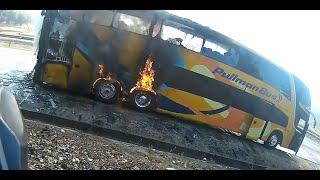 10-1 Bomberos Casablanca, Incendio Bus de dos pisos// Firecam-Dron