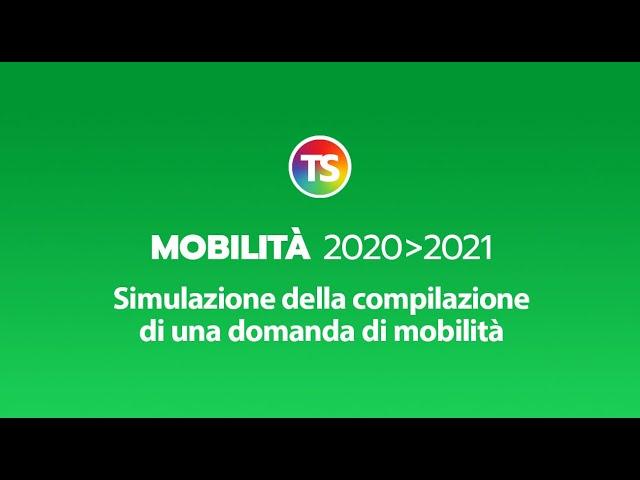 Mobilità 2020/2021, simulazione compilazione domanda di mobilità