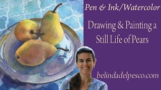 how to make a pen and ink still life painting with watercolor 2